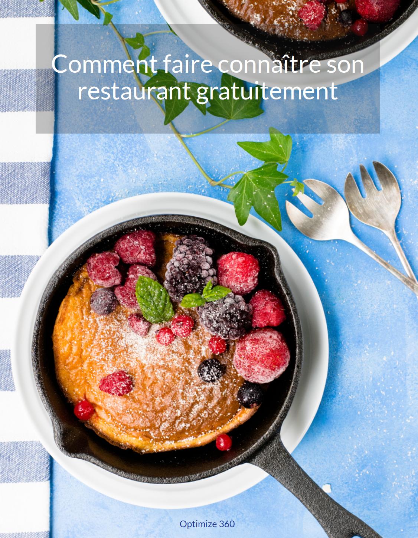 Livre Blanc comment faire connaître son restaurant gratuitement